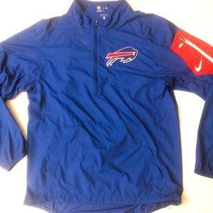 Buffalo Bills NFL Nike On Field Apparel 1/2 Zip
